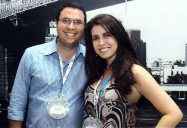 Sócios diretores Davi Gomes e Aline Brault