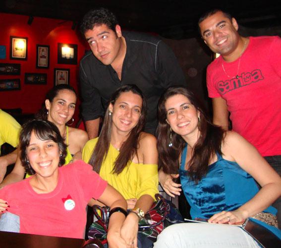 De cima para baixo, os Marcativanos: Victor Fernandes, Cezar Rego, Cris Costa, Lílian Garrido, Aline Brault e Dandara Almeida