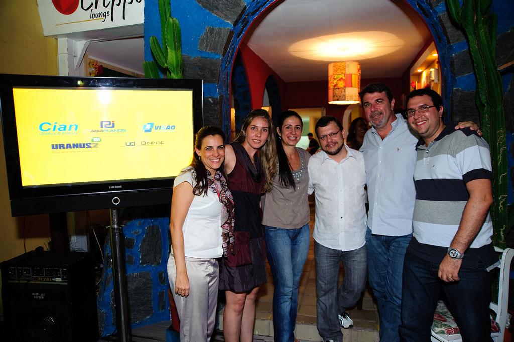 Ericka Gordiano, Talita Gabrick, Djanira Dias, Sandro Ferreira, Fred Boat e Davi Gomes