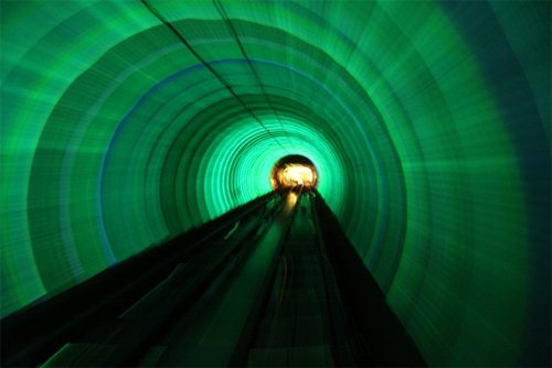 Bund Sightseeing Tunnel - Xangai, China