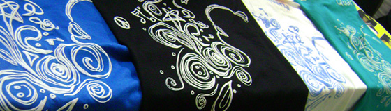 As camisetas após sua confecção