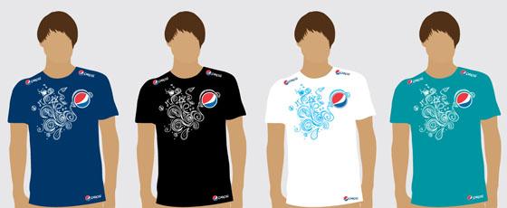 Projeto inicial das camisas com as quatro opções de cores