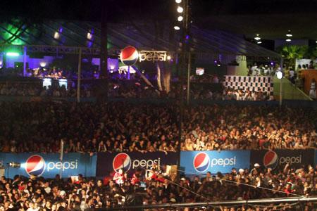 Camarote Pepsi completamente lotado todos os dias. Sem dúvidas, o lugar mais disputado da festa.