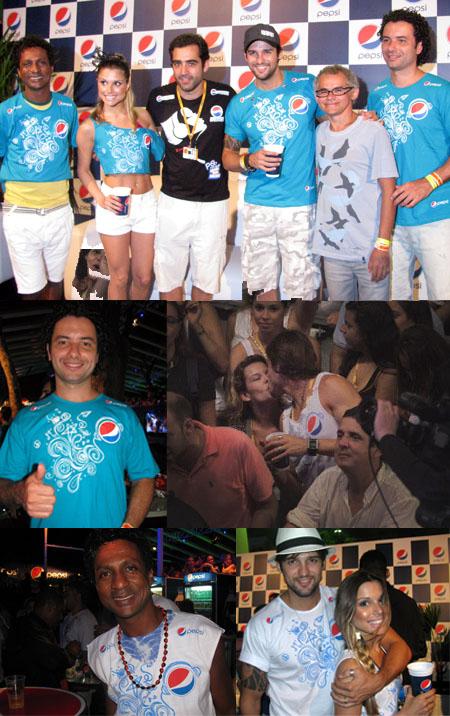 Muitos famosos circularam no Camarote Pepsi nos dois últimos dias de Festival: Marco Luque do CQC, Luiz Miranda, Fernanda Souza e os ex BBB's Justi e Flavinha.