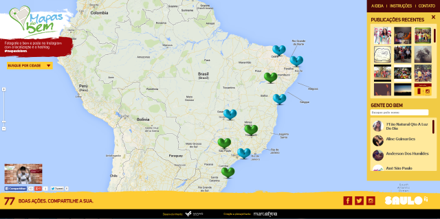 Mapas do Bem - Site